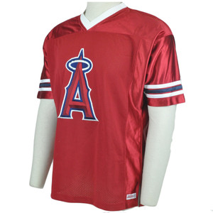MLB LA Los Angeles Angels Stitches Licensed Lightweight Baseball Jersey