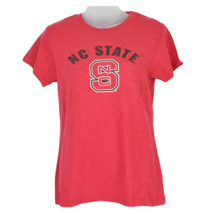 NCAA North Carolina State Wolfpack Red Shirt Women Ladies Tshirt Triblend Tee