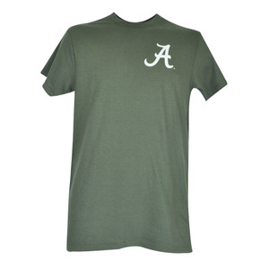 NCAA Alabama Crimson Roll Tide Hunter Green Mens Adult Tshirt Shirt Trophie Tee