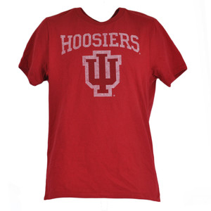 NCAA Indiana Hoosiers Distressed Red Basic Logo College Shirt Tshirt Tee