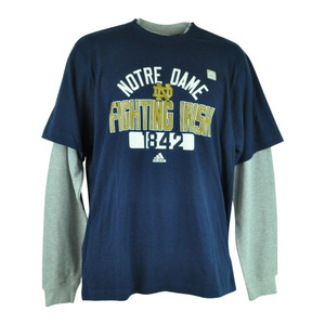 NCAA Adidas Notre Dame Fighting Irish Thermo Long Sleeve Shirt Mens Tee