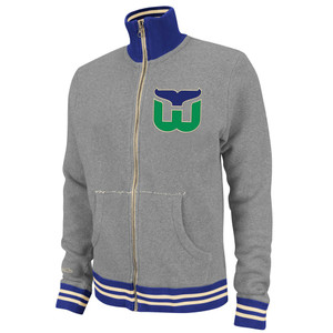 NHL Mitchell & Ness 6024 Vintage French Terry Track Jacket Hartford Whalers