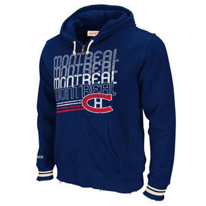 NHL Mitchell & Ness 8484 Repeat Fleece Hoody Hoodie Montreal Canadiens