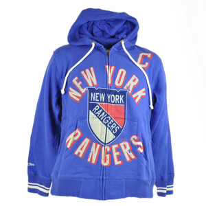 NHL Mitchell & Ness 8484 Repeat Fleece Hoodie New York Rangers Messier