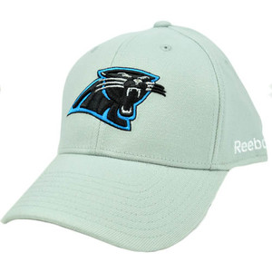 NFL Carolina Panthers Gray Black Reebok Large XLarge Flex Fit License Hat Cap