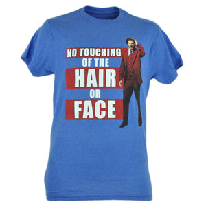 Anchorman 2 Will Ferrell No Touching Ron Burgundy Movie Tshirt Tee Adult