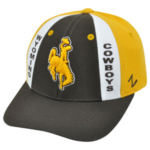 NCAA Zephyr Wyoming Cowboys Main Event Velcro Curved Bill Adjustable Hat Cap