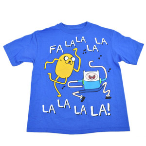 Cartoon Network Adventure Time Jake Finn Music Dance Youth Tshirt Tee