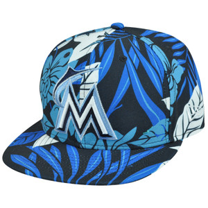 MLB NE New Era Florical Miami Marlins 59Fifty 5950 Fitted Flowers Summer Hat Cap