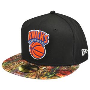 NBA HWC New Era 59Fifty 5950 NY New York Knicks Snake Visor Fitted Hat Cap