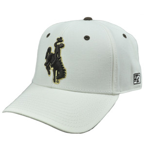 NCAA The Game Wyoming Cowboys Cowgirls Fitted Hat Cap Ivory Curved Bill