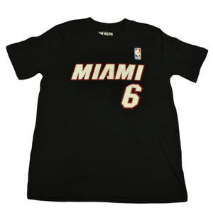Adidas NBA Miami Heat Youth Name And Number Lebron James Tshirt Tee Medium 10/12
