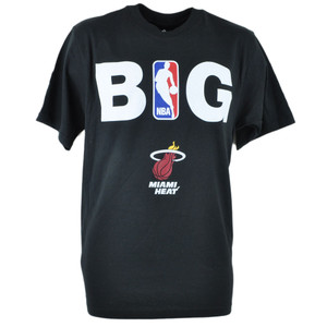 Adidas NBA Miami Heat BIG Tshirt Tee Black Adult Men Tshirt Tee XLarge XL Shirt