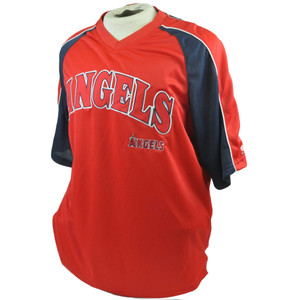 MLB LA Los Angeles Angels True Fan Licensed Lightweight Baseball Jersey Large LG