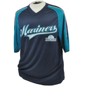 MLB Seattle Mariners True Fan Lightweight Licensed Authentic Jersey Shirt Large