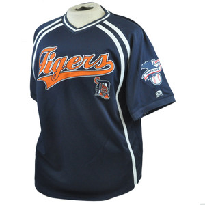 MLB American League Detroit Tigers True Fan Authentic Mesh Jersey Shirt Large LG