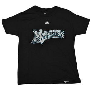 MLB Florida Miami Marlins Josh Johnson 55 Youth Kids Baseball Tshirt Tee Black