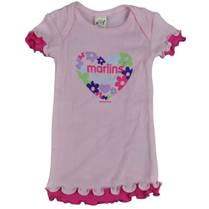 MLB Florida Miami Marlins Baby Infant Girls Flowers Shirt Tee Lettuce Edge
