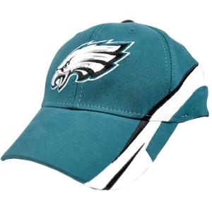 NFL Philadelphia Eagles Small Medium MD Turquoise White Team Cap Hat Flex Fit