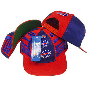NFL BUFFALO BILLS FLAT BILL SNAPBACK OLD SCHOOL HAT CAP