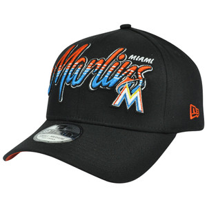 3930 MLB New Era 39Thirty M/L Miami Marlins Dub Tone Stretch Flex Fit Hat Cap