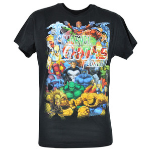 Disney Marvel Ensemble Heroes Junior Boys Superheroes Florida Tshirt Tee 16/18