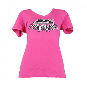 BK Racing Nascar Morgan Shepard #93 Ryan Truex #83 Women Tshirt V-neck Pink XL