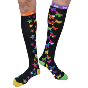 Spencers Mix And Match Hearts Skulls Stars Butterflies Knee High Socks 2 Pair