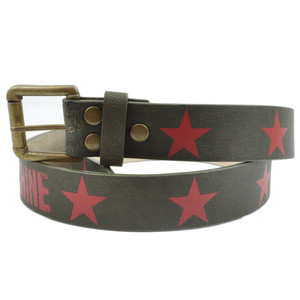 Rage Against The Machine Music Rock Band Faux Leather Red Stars Belt