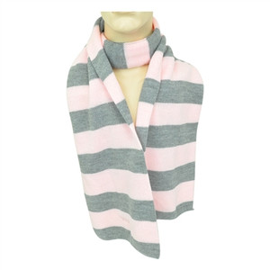 NCAA American Needle West Virginia Mountaineers Womens Ladies Striped Scarf Pink