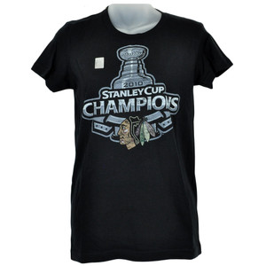 NHL LNH Chicago Blackhawks Womens Ladies Tee Stanley Cup Champs Tshirt