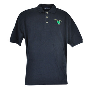 NCAA Notre Dame Fighting Irish Collar Polo Vantage School Work Navy Shirt Medium