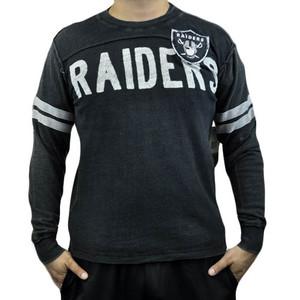 NFL Oakland Raiders Rave Cotton Long Sleeve Premium Shirt Sweatshirt Medium MED