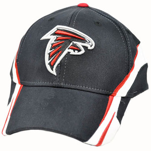 NFL Atlanta Falcons Black Red White Team Colors Flex Fit Small Medium Cap Hat