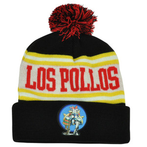 Breaking Bad Tv Series Los Pollos Hermanos Pom Word Mark Knit Beanie Cuffed Hat
