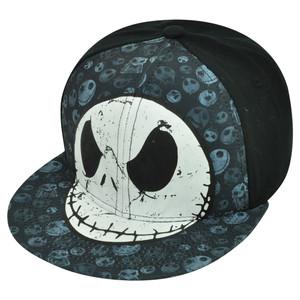 Nightmare Before Christmas Movie Many Faces of Jack Skellington Snapback Hat Cap