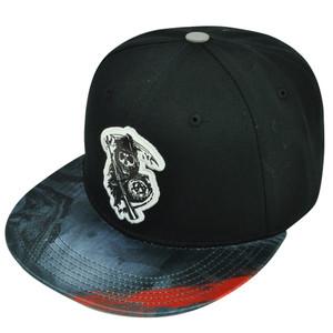 Sons of Anarchy SOA TV Series Reaper Sublimated Visor Flat Bill Snapback Hat Cap