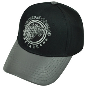 Game of Thrones HBO House Stark Winter Is Coming Faux Leather Snapback Hat Cap
