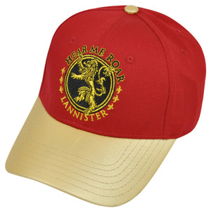 Game of Thrones HBO Lannister House Hear Me Roar Faux Leather Snapback Hat Cap