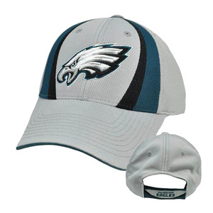 NFL Philadelphia Eagles Gray Teal Black Velcro Jersey Mesh Licensed Hat Cap