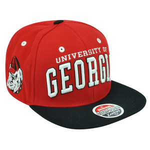NCAA Georgia Bulldogs Dawg Zephyr Super Star Snapback Two Tone Flat Bill Hat Cap