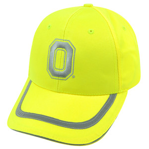 NCAA Ohio State Buckeyes Neon Yellow Reflective Adjustable Velcro Bright Hat Cap