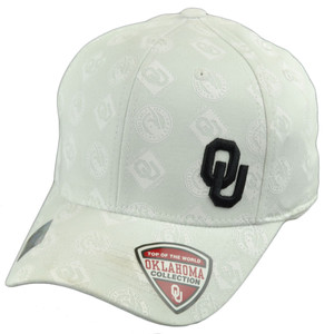 NCAA Top of the World Oklahoma Sooners All Over 1 Size Flex Fit Stretch Hat Cap