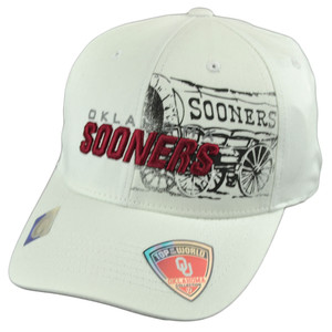 NCAA Top of the World Oklahoma Sooners Distressed Logo Flex Fit One Size Hat Cap