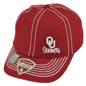 NCAA Top of the World Oklahoma Sooners GW Women Wave Small Brim Buckle Hat Cap