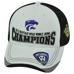 NCAA Kansas State Wildcats 2013 Buffalo Wild Wings Bowl Champions Velcro Hat Cap