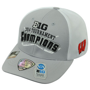 NCAA Wisocnsin Badgers 2014 Big 10 Hockey Tournament Champions Velcro Hat Cap