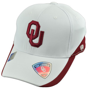 NCAA Top of the World Oklahoma Sooners White Out One Size Flex Fit Hat Cap