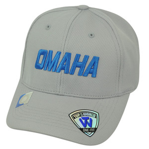 NCAA Men's National Baseball Championship Omaha Nebraska Grey Flex Fit Hat Cap