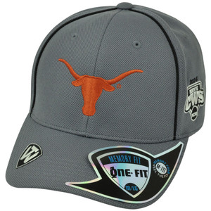 NCAA Texas Longhorns Men's National Baseball Championship Grey Flex Fit Hat Cap